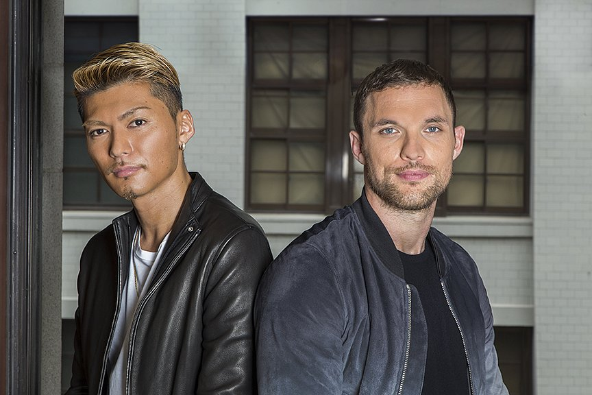 Shokichi from Exile & Ed Skrein for Vogue Japan